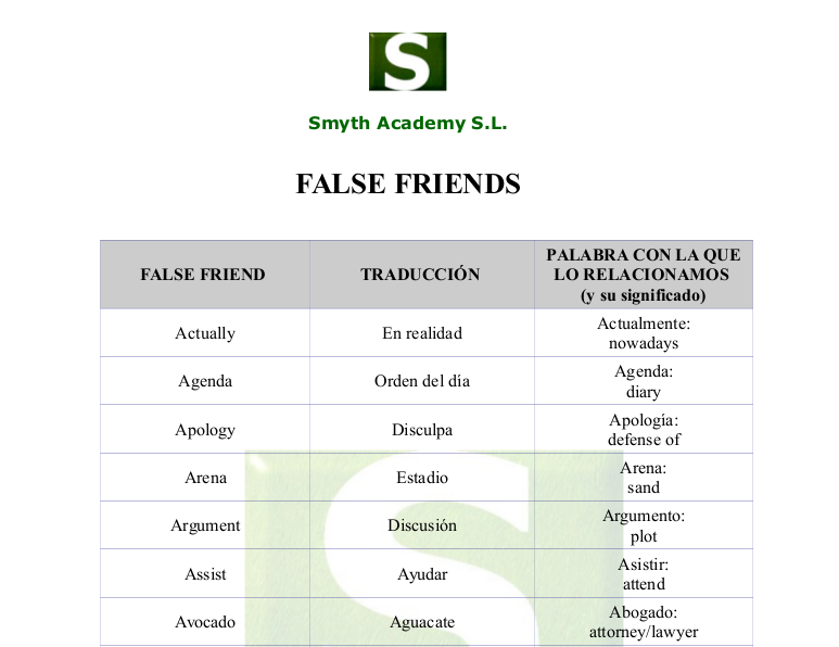 falsefriends