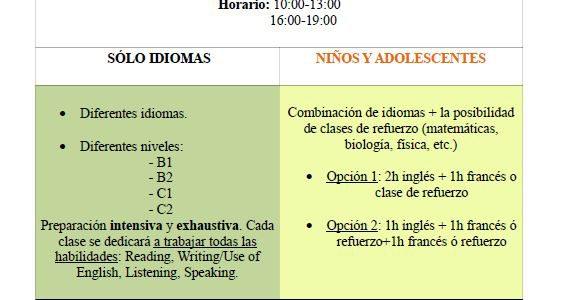 Cursos intensivos de verano 2016. Abierto el plazo de matriculación.