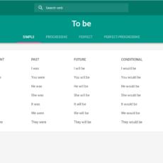 Conjugador de verbos en inglés, muy útil.