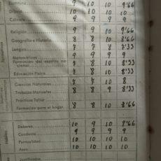 Y así eran las notas antes…