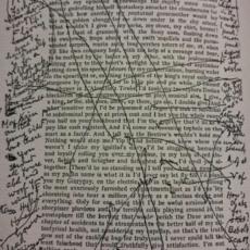 Las correcciones de puño y letra de Joyce.