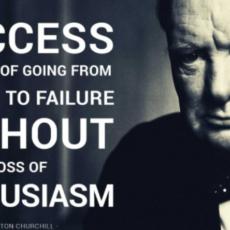 Frase inspiradora de Winston Churchill.