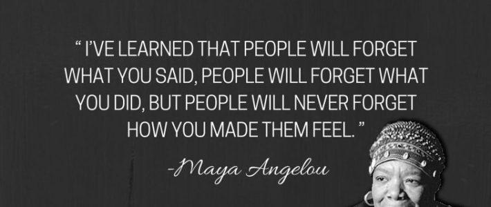 Frase inspiradora de Maya Angelou.