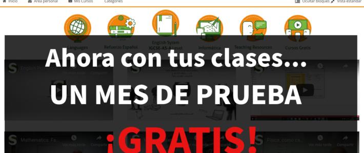 (Español) ¡Prueba gratis nuestra Aula Virtual en clases de refuerzo!