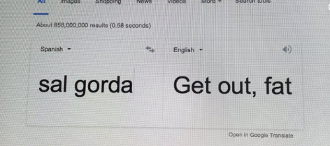 Mucho cuidado con el traductor.