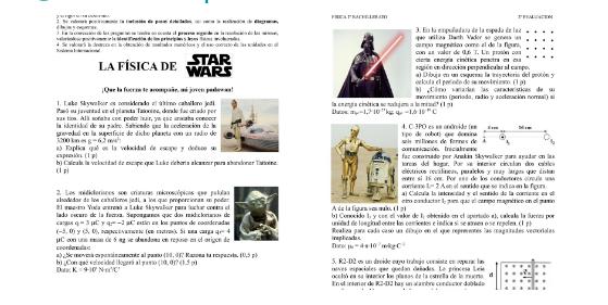 Física+Star Wars= examen increíble.