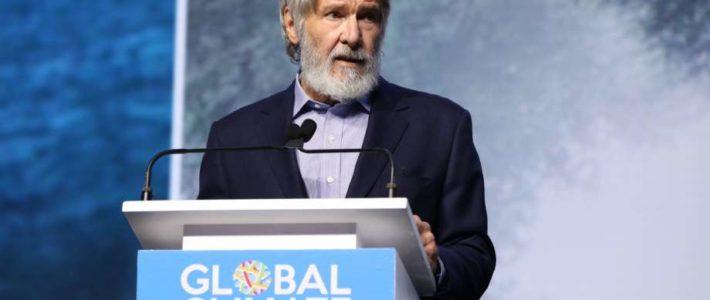 Harrison Ford y su discurso contra el cambio climático.