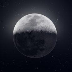 Preciosa imagen de la Luna.