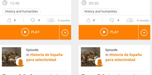 Un podcast sobre Historia y otro sobre Historia del Arte, entre los top de los estudiantes de Selectividad.