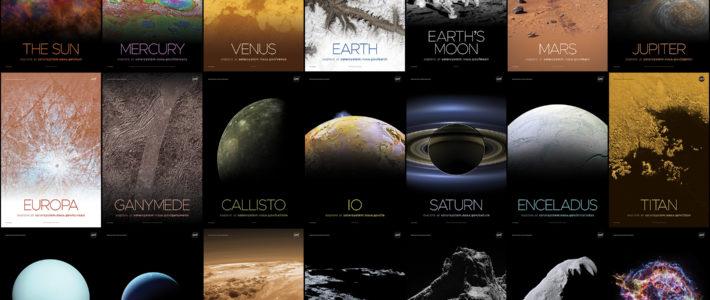 Los posters de la NASA.