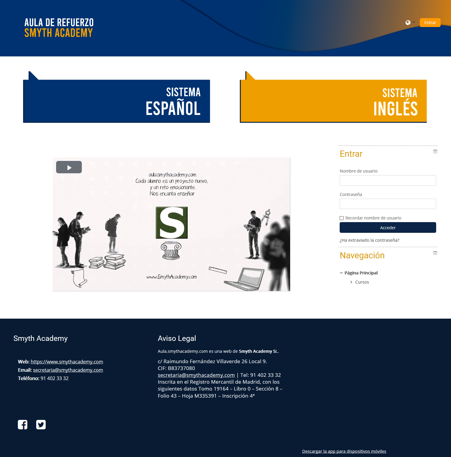 Nuevo Aula Online de Refuerzo.